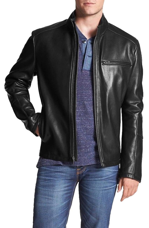 ABDys Men's Lambskin Leather jacket DKL770 Black