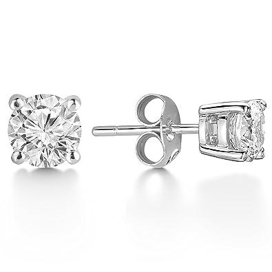 07aa04e2f46ee J. Fée 925 Sterling Silver Swarovski Crystal Cubic Zirconia Stud ...