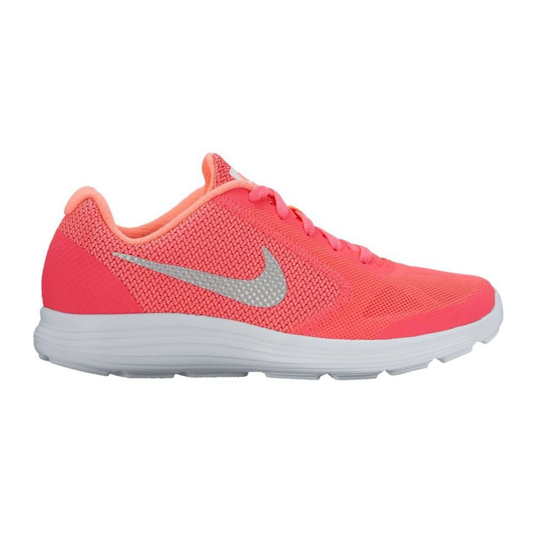 NIKE Girls' Revolution 3 (GS) Running Shoe, Racer Pink/White/Lava Glow, 5.5 M US Big Kid by NIKE