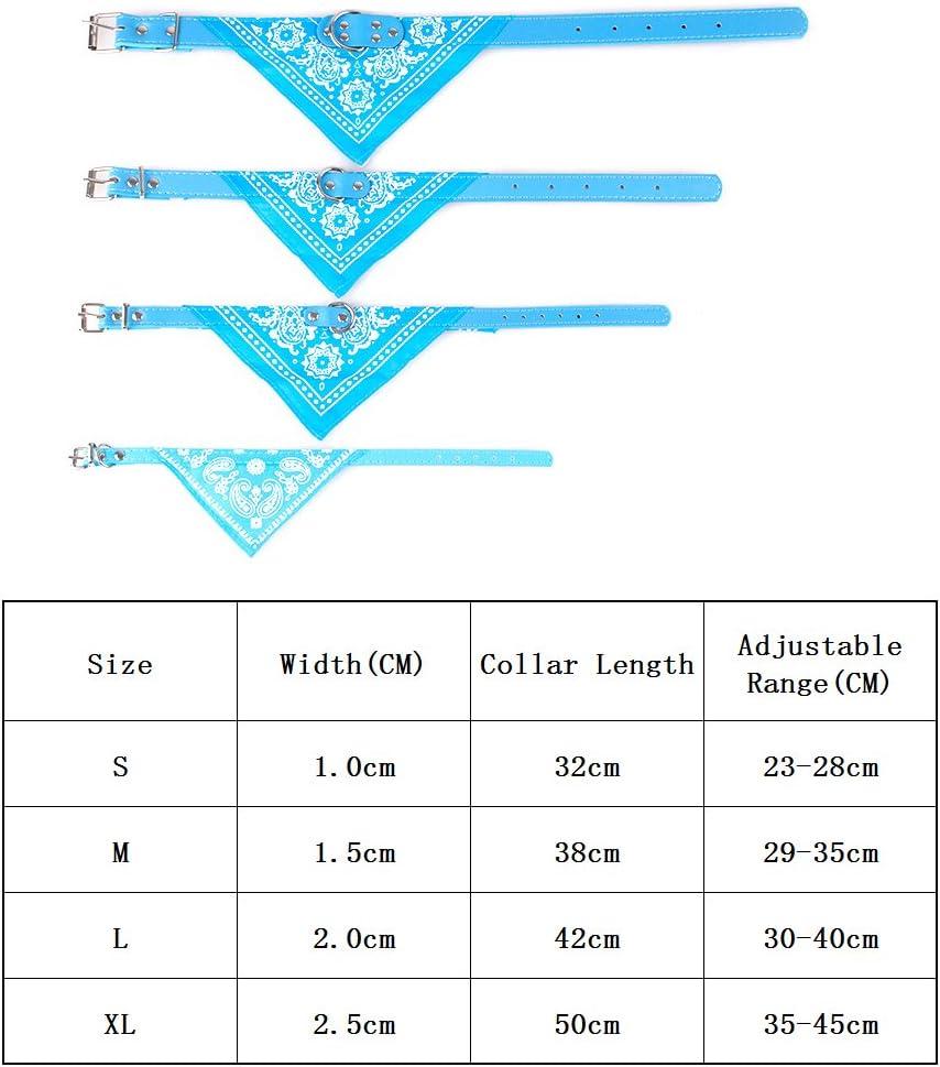 Medium cachorros o gatos azul Collar de bandana para perros ajustable
