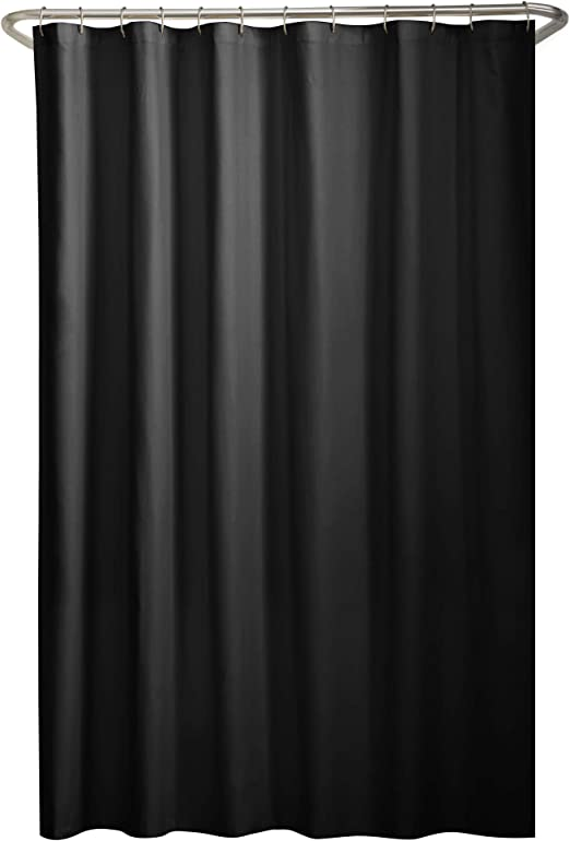 """Standard Size Fabric Shower Curtain Water Resistant 70/""""W x 72/""""L Weighted Hem"""
