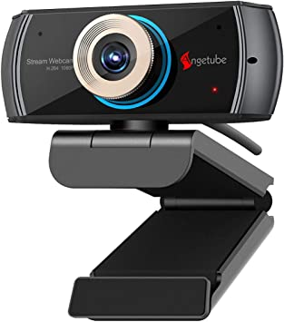 Angetube Cámara Web HD a 1080P con micrófono, cámara Web USB PC ...