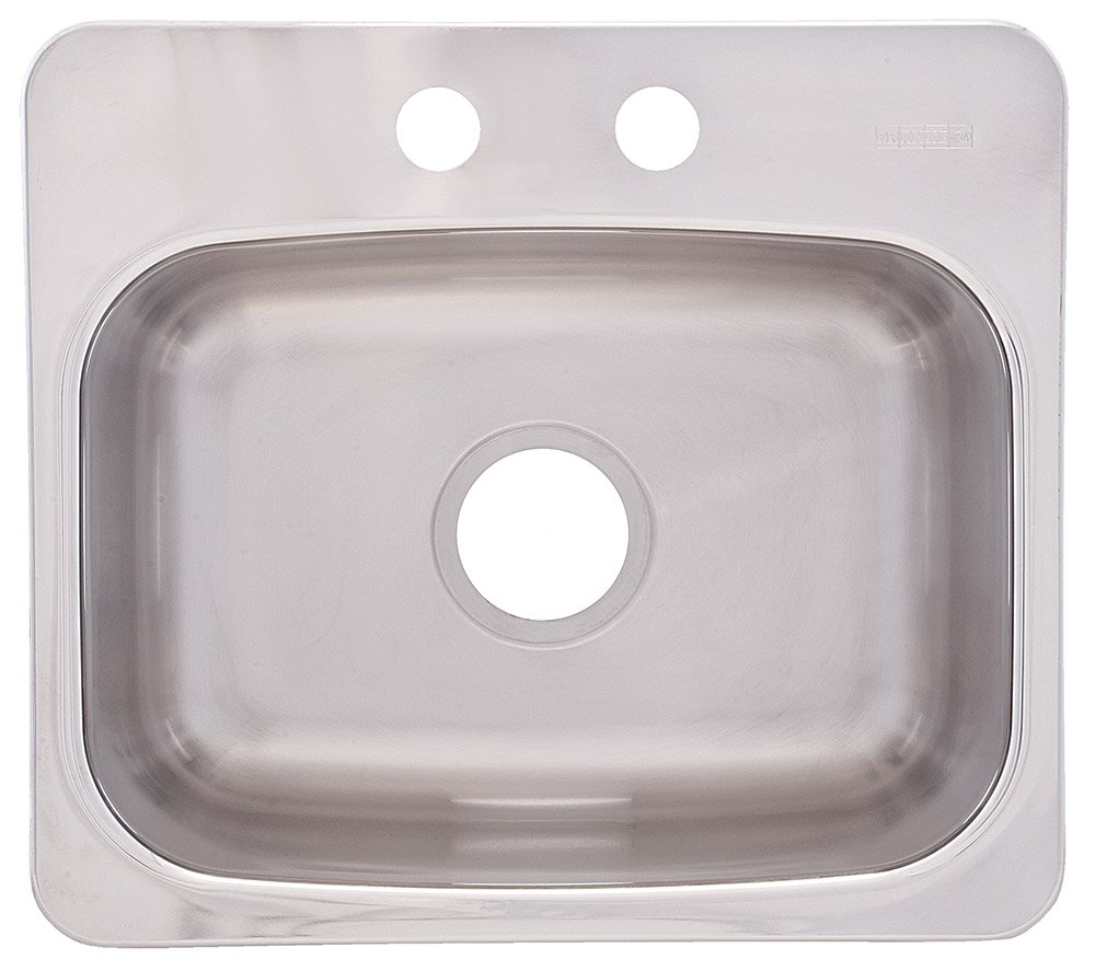 FrankeUSA BMSK802 Single Bowl Stainless Steel 19 1/8x 17in. Topmount Sink by FrankeUSA