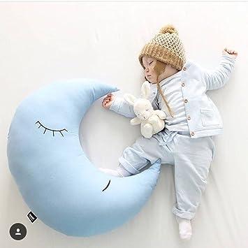 gaddrt Cozy luna de peluche de algodón almohada cojín suave juguetes cámara accesorios Regalos decorativo almohada