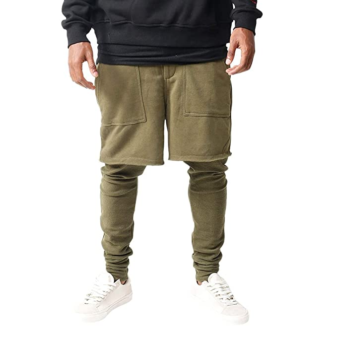 d437f07e053d57 Transer- Mens Patchwork Cotton Sweatpants, Army Green Jogging Classic-Fit  Sport Casual Long Pants with Pocket at Amazon Men's Clothing store: