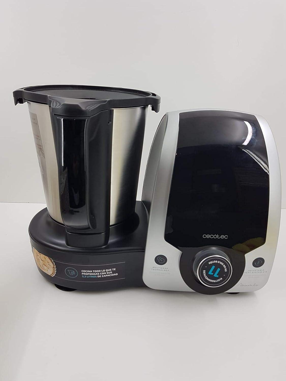 T-MIX Funda Protectora Tela Antimanchas para Robot Cocina Mambo CECOTEC. 6090, 7090, Silver, Black, 8090 Y 9090. Mandala Rojo: Amazon.es
