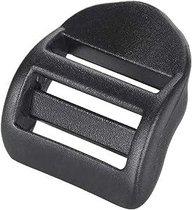Ninepeak Plastic Ladder Tension Lock Buckles 24 Pcs Black (1 Inch)
