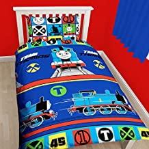 Thomas The Tank Engine Childrens/Boys Official Team Reversible Bedding Set (Twin) (Multicolored)