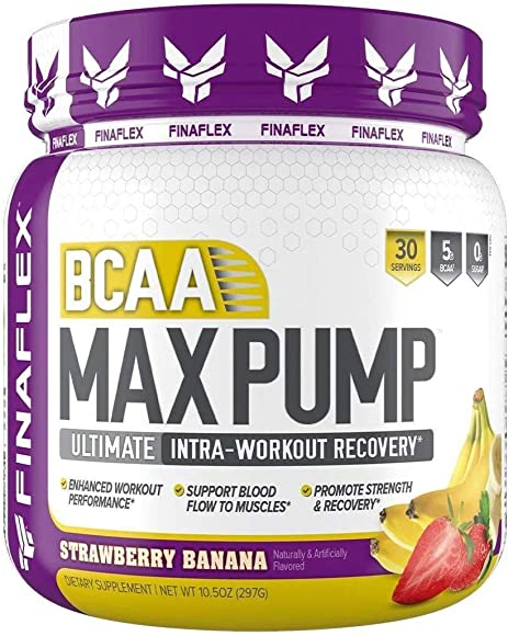 Finaflex Bcaa Max Pump Strawberry Banana Ultimate Intra Workout Recovery 10 Ounce, 10 Ounce