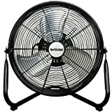 Hurricane Wall | Floor Fan - 16 inch | Pro Series | High Velocity | Heavy Duty Metal Orbital Wall | Floor Fan for Industrial, Commercial, Residential, and Greenhouse Use - ETL Listed, Black