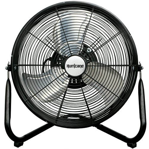 (Hurricane Wall | Floor Fan - 16 Inch | Pro Series | High Velocity | Heavy Duty Metal Orbital Wall | Floor Fan for Industrial, Commercial, Residential, and Greenhouse Use - ETL Listed, Black)