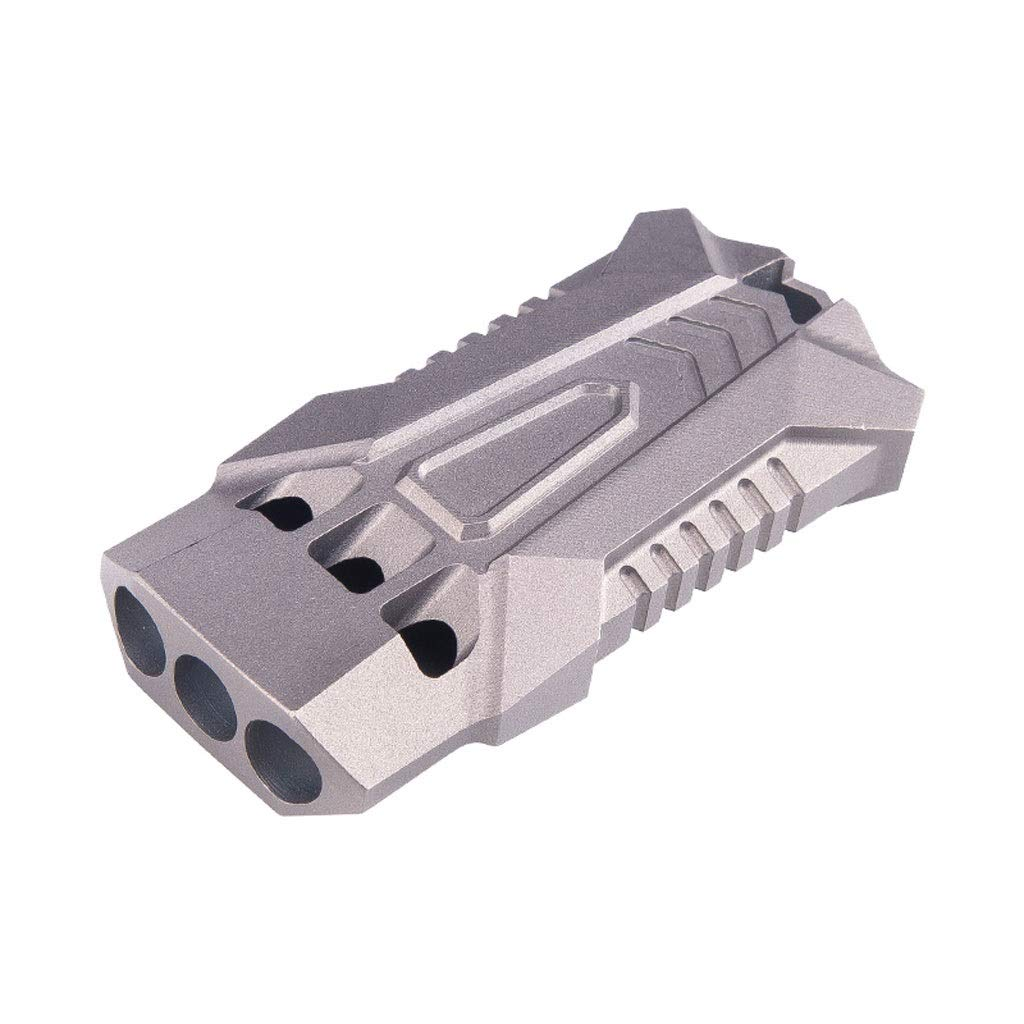 LNYJ Outdoor Camping Three Tubes TC4 Titanium Alloy Survival Whistle high Frequency Sonic Boom Whistle Survival Whistle Referee Training Metal Game Whistle (Color : Gray)