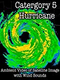 Category 5 Hurricane Ambient Video of Satellite Image with Wind Sounds