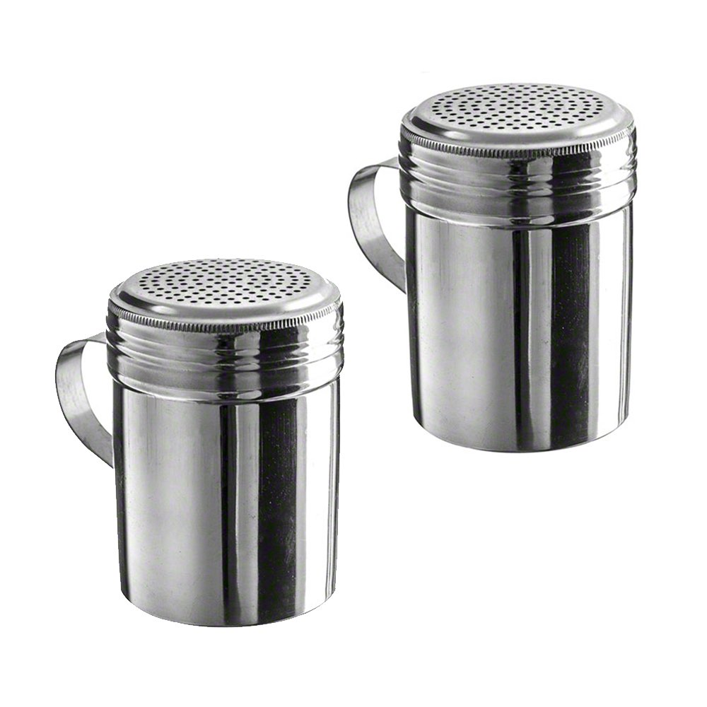 (Pack of 2) 10 oz Stainless Steel Dredges With Handle W&P Trading Corp