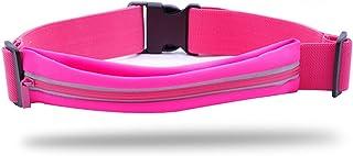 LYFLYF Extérieur Fitness Course à Pied Imperméable à l'eau Fermeture à Glissière Réfléchissant Sport Ceinture Bouche Simple Taille des Paquets Sac,Pink