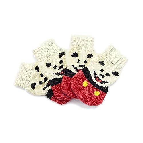 Calcetines para Perros, Calzado Antideslizante, Zapatos De Algodón para Mascotas, Oso Blanco,