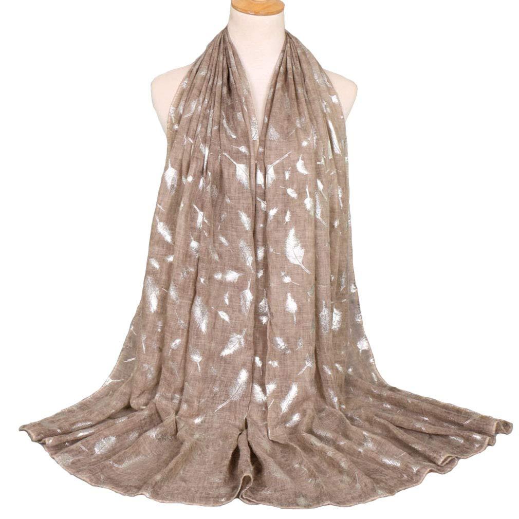 KAVINGKALY Soir/ée l/ég/ère Wrap ou foulard mode ch/âle de plume de mariage l/éger et soir/ée Star Sparkle foulards pour femmes