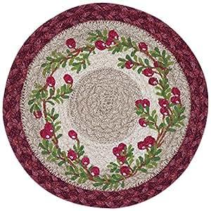Tierra alfombras 80 390 c cranberry impreso redondo for Alfombras comedor amazon