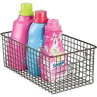 mDesign Cesta metálica para su lavadero - Cesta