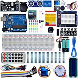 Optimus Electric UNO R3 Super Starter Kit - Complete UNO R3 Kit for Arduino Programming and Development - Includes a Development Board Compatible with Arduino UNO R3 - A Beginner's Inventor Kit