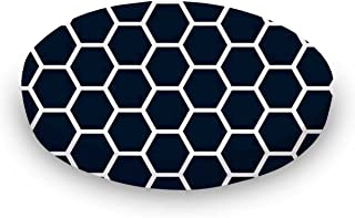 product image for SheetWorld Round Crib Sheets - Navy Honeycomb - Made In USA