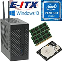 Asrock DeskMini 110 Intel Pentium G4600 (Kaby Lake) Mini-STX System , 32GB Dual Channel DDR4, 2TB HDD, WiFi, Bluetooth, Window 10 Pro Installed & Configured by E-ITX