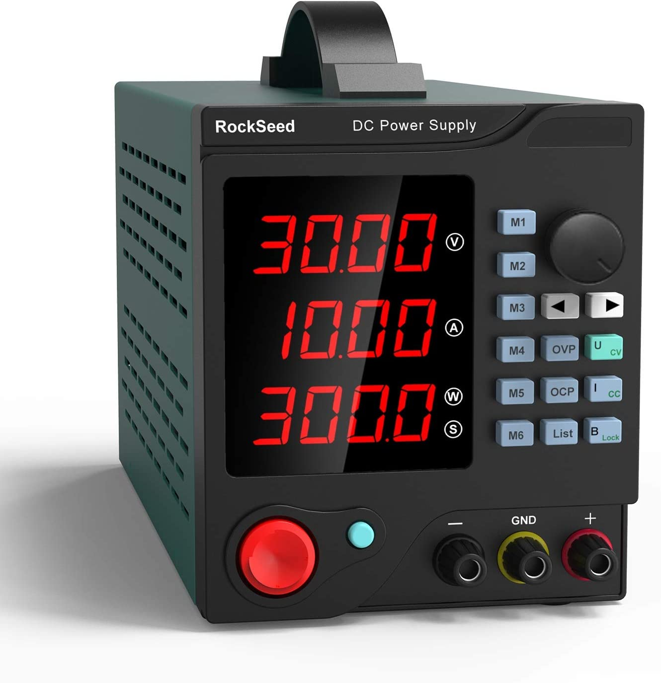 RockSeed RS305P Fuentes de Alimentacion Regulables de Conmutación Ajustable 30V / 5A Variable con Pantalla LED de 4 dígitos/6 Sets de Almacenamiento con software para PC e interfaz USB