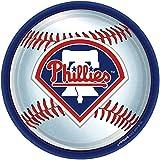 "Amscan Philadelphia Phillies Round Dinner Plates, 9"""