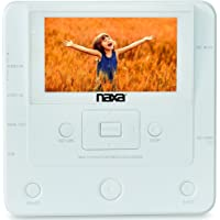 Naxa NTM-1100 DVD/USB Media Recorder with Screen, White, 10.80in. x 7.20in. x 4.00in.