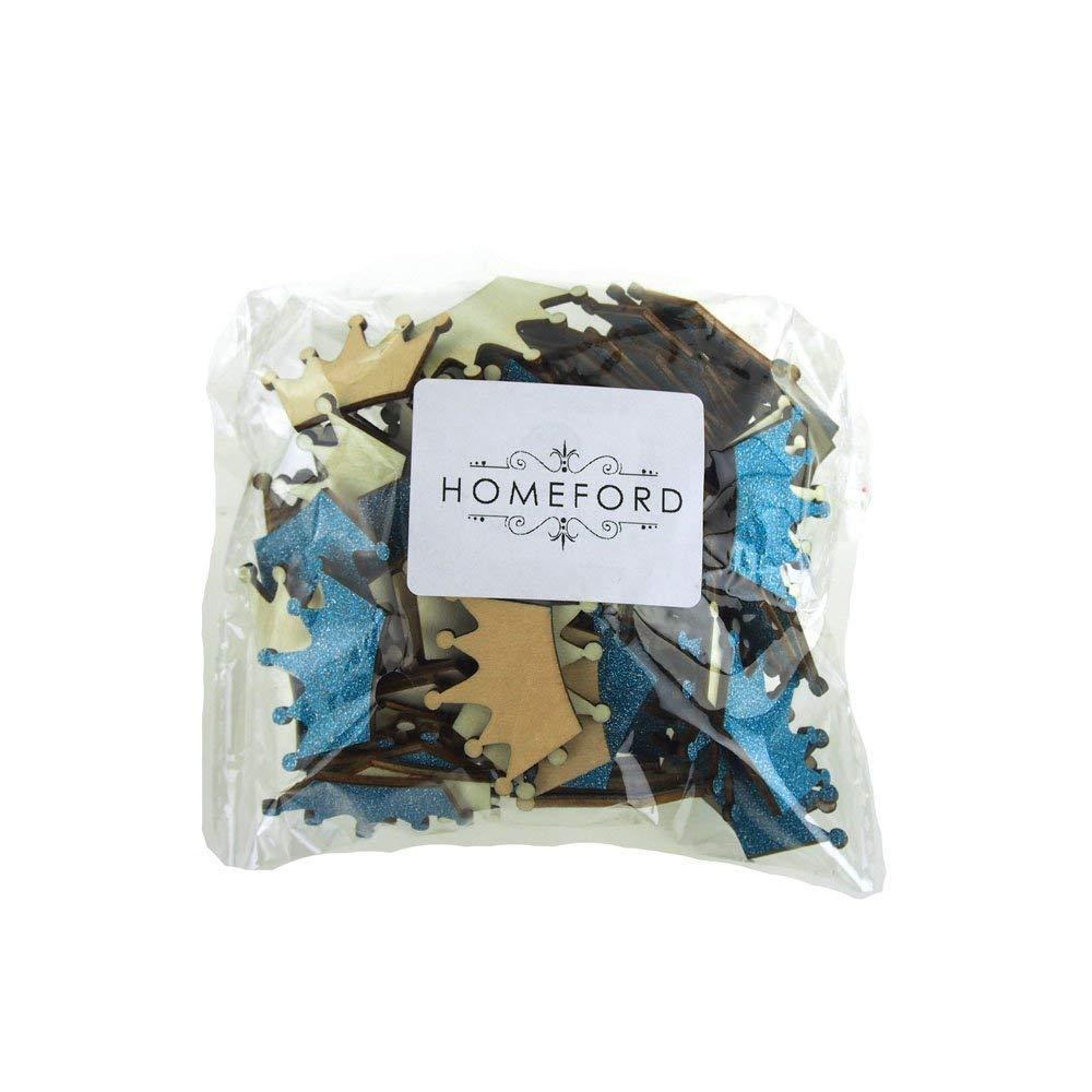 Homeford FCF00000WPG1TURQ Glitter Wood Favors, 1-1/2'', Turquoise