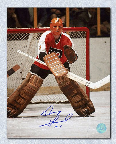 56376333ad6 Doug Favell Philadelphia Flyers Autographed Halloween Mask 8x10 Photo -  Signed Hockey Pictures