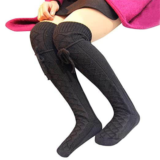 17c9fb7d3d45a1 Socks, FORUU Sales 2018 Winter Warm Under 10 Best Gift Womens Cable Knit  Over Knee