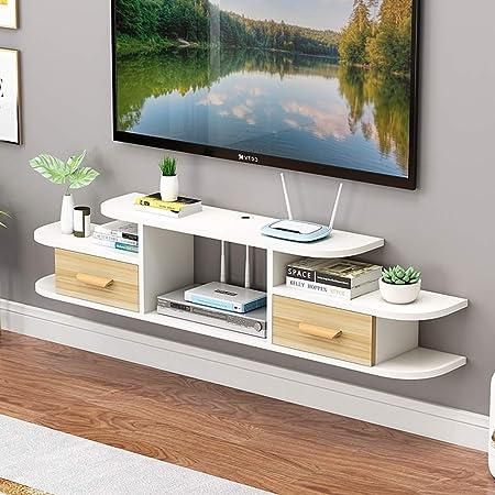 Estante Soporte moderno for TV con estante de almacenamiento Soporte de TV montado en la pared