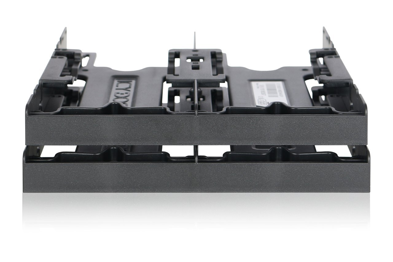 "ICY DOCK 4 x 2.5"" HDD/SSD Bracket Mount Kit Adapter for 5.25"" Drive Bay - FLEX-FIT Quattro MB344SP"