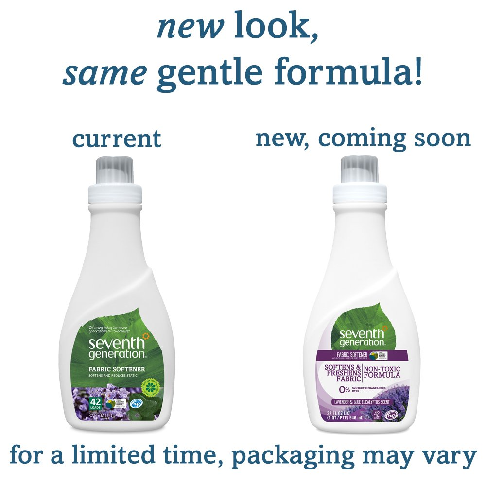 Seventh Generation Natural Fabric Softener - Free & Clear - 32 oz - 10 pk