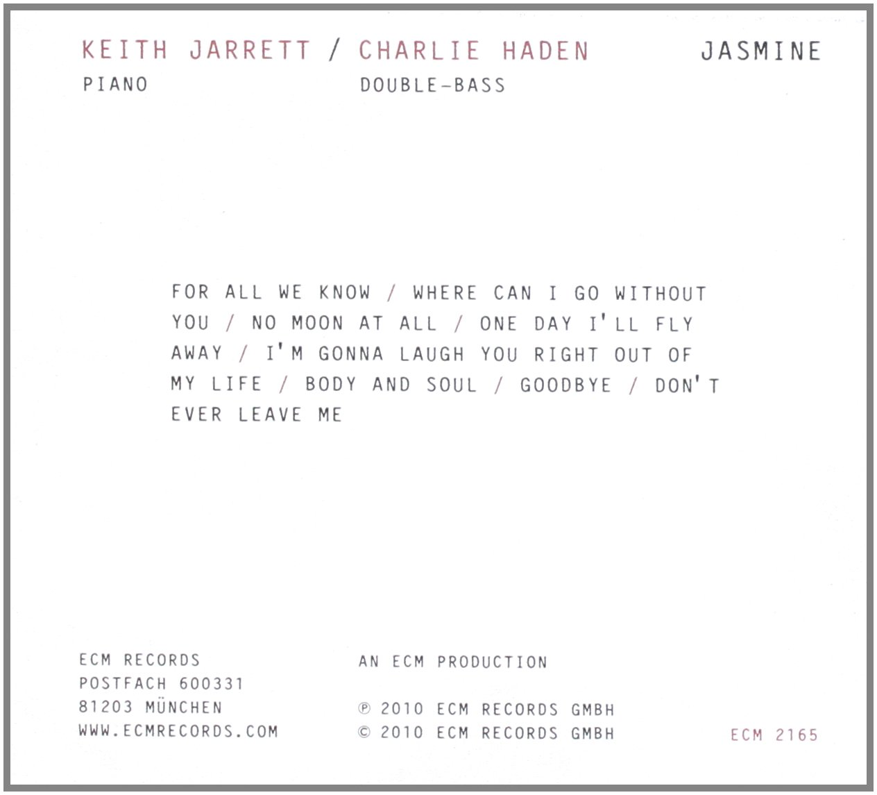 Keith jarrett charlie haden jasmine amazon music hexwebz Images