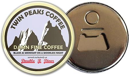 Twin Peaks Damn Fine Coffee calamita con apribottiglie