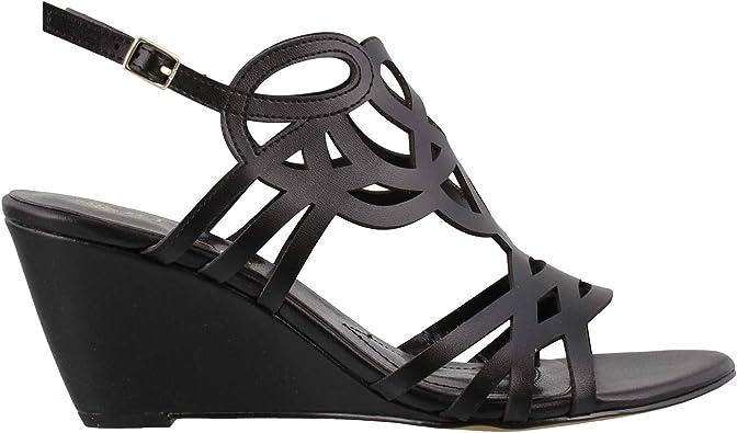 Florin Wedge Sandals Black