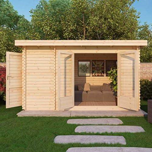 Waltons - Cabaña de madera, elegante, 4 m x 2, 5 m: Amazon.es: Jardín