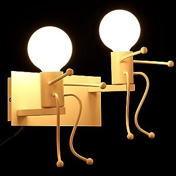 KAWELL® Kreative Vintage Wandleuchte LED Industrie Retro Wandlampe Schwarz  Eisen E27 Halter Innen Art Deco