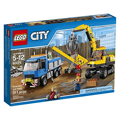 LEGO City Demolition Excavator and Truck (Lego City Recycling Truck)