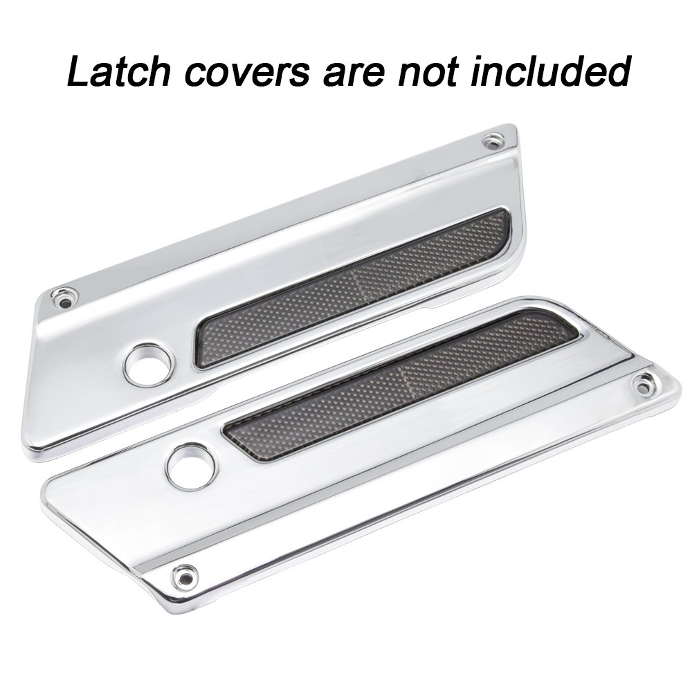 Amazicha Black Reflectors for Harley Latch Covers Saddlebags Side Visibility 1993-2013 Left /& Right