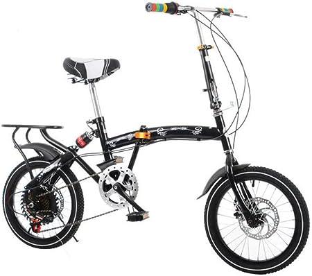 GHGJU Bicicleta Plegable para Adultos Bicicleta De Montaña De 20 ...
