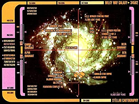 The Museum Outlet Charts Of Star Trek Lcars Galaxy Map A3 Poster