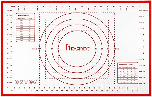Alfombrilla antideslizante de silicona para repostería Farinido ...