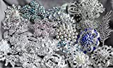 50 Rhinestone Brooch Rhinestone Button X LARGE Top Quality Pearl Crystal Wedding Bridal Rhinestone Brooch Bouquet DIY Kit BR999