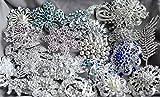 50 Rhinestone Brooch Rhinestone Button X LARGE Top Quality Pearl Crystal Wedding Bridal Rhinestone Brooch Bouquet DIY Kit BR999