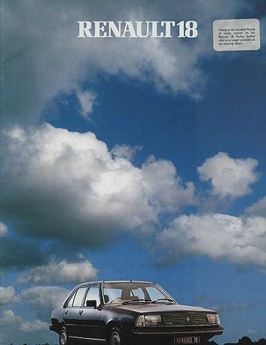 1982 Renault 18 TL TS GTL Automatic GTD TX GTX Turbo Brochure England