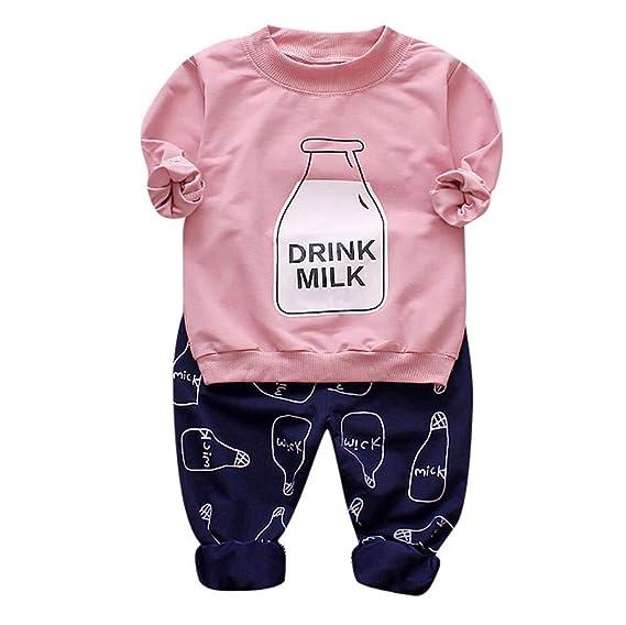Conjuntos para Unisex Bebés Niños Niñas Otoño Invierno 2018 Moda PAOLIAN Camisetas Manga Largas de Sudaderas