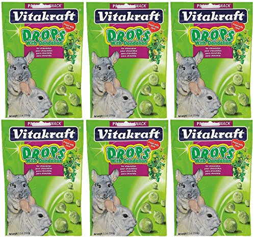 Vitakraft Dandelion Drops for Chinchillas - 6 PACK - Vitakraft Small Animal